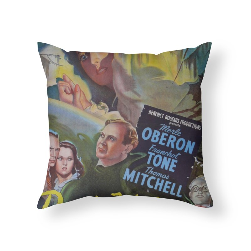 Dark Waters, vintage horror movie poster Home Throw Pillow by ALMA VISUAL's Artist Shop
