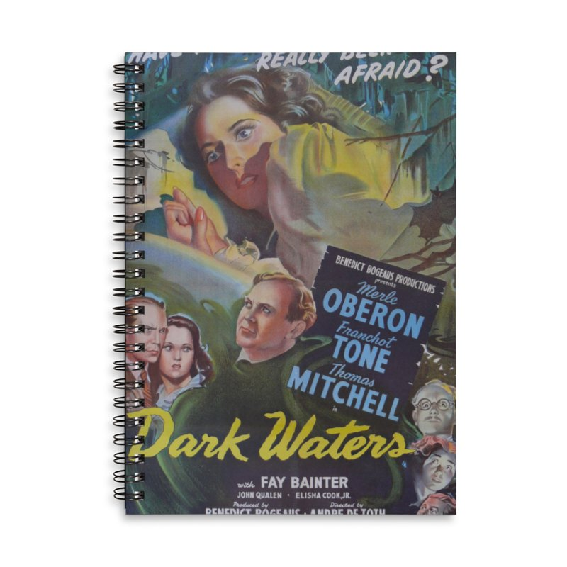 Dark Waters, vintage horror movie poster Accessories Lined Spiral Notebook by ALMA VISUAL's Artist Shop