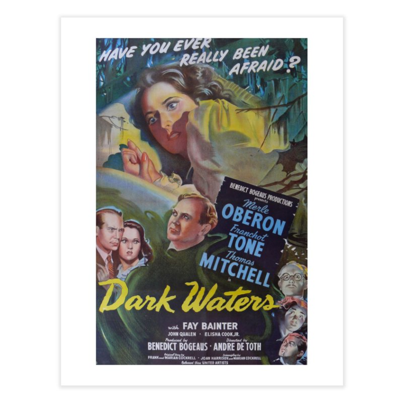 Dark Waters, vintage horror movie poster Home Fine Art Print by ALMA VISUAL's Artist Shop
