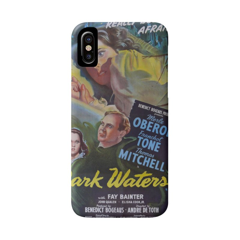 Dark Waters, vintage horror movie poster Accessories Phone Case by ALMA VISUAL's Artist Shop