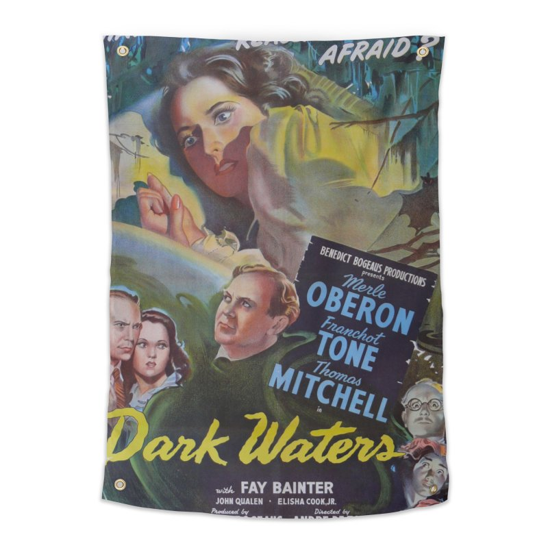 Dark Waters, vintage horror movie poster Home Tapestry by ALMA VISUAL's Artist Shop