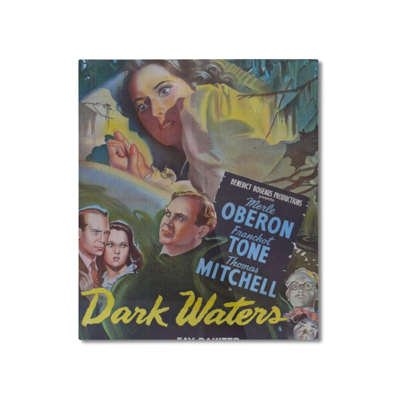 Dark Waters, vintage horror movie poster Home Mounted Aluminum Print by ALMA VISUAL's Artist Shop