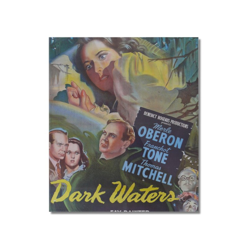 Dark Waters, vintage horror movie poster Home Mounted Acrylic Print by ALMA VISUAL's Artist Shop