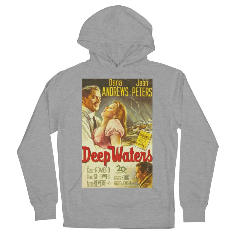 Deep Waters, vintage movie poster Women's French Terry Pullover Hoody by ALMA VISUAL's Artist Shop