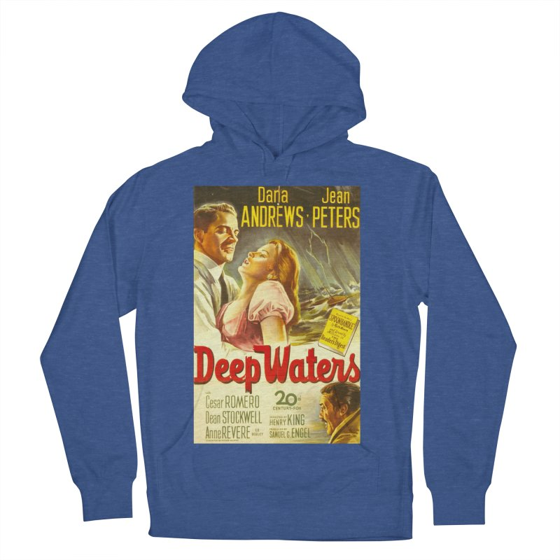 Deep Waters, vintage movie poster Men's Pullover Hoody by ALMA VISUAL's Artist Shop