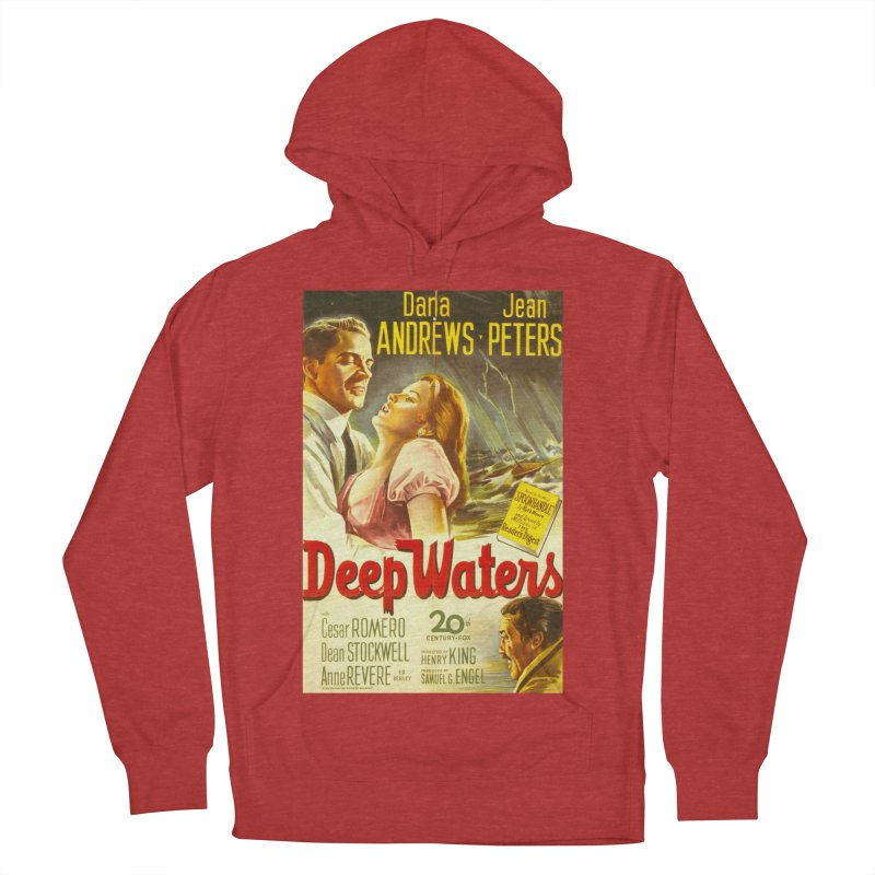 Deep Waters, vintage movie poster Men's French Terry Pullover Hoody by ALMA VISUAL's Artist Shop