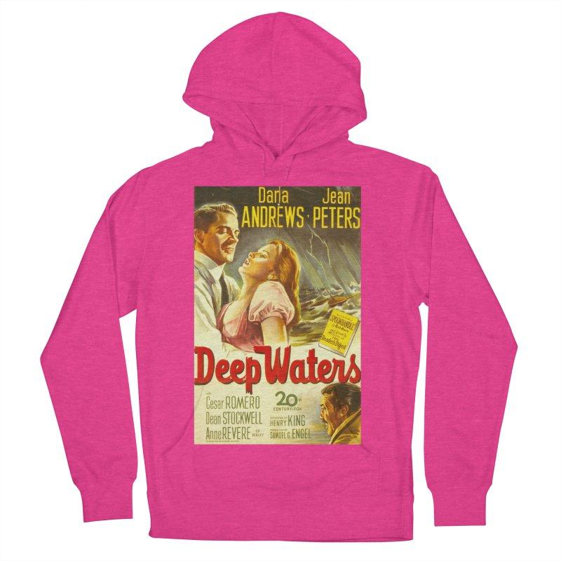 Deep Waters, vintage movie poster Men's Pullover Hoody by ALMA VISUAL's Artist Shop