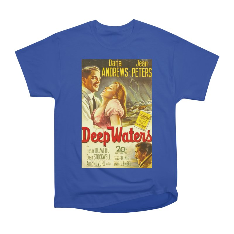 Deep Waters, vintage movie poster Men's Classic T-Shirt by ALMA VISUAL's Artist Shop