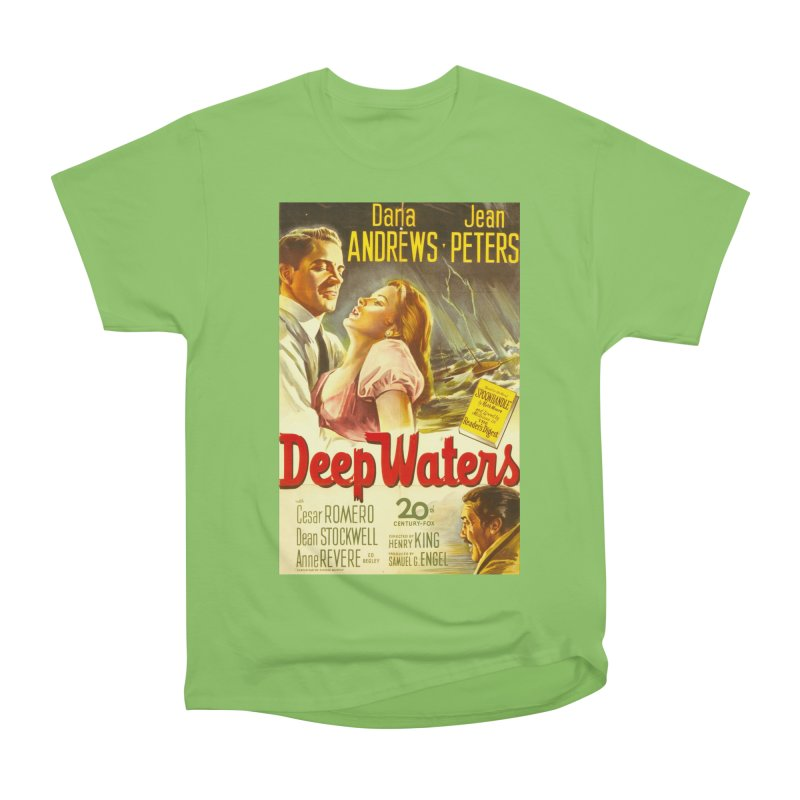 Deep Waters, vintage movie poster Women's Heavyweight Unisex T-Shirt by ALMA VISUAL's Artist Shop
