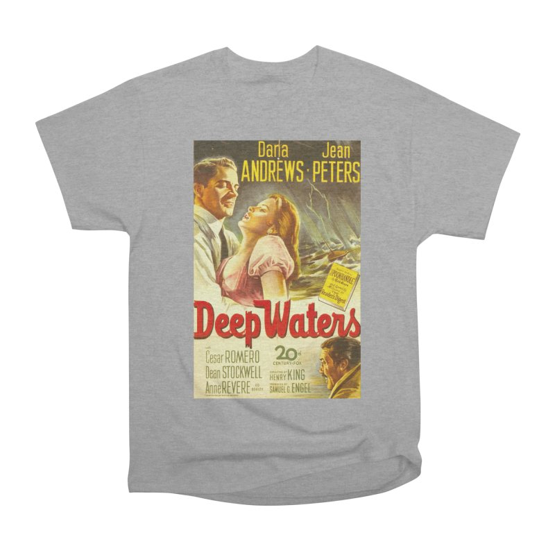 Deep Waters, vintage movie poster Men's Heavyweight T-Shirt by ALMA VISUAL's Artist Shop