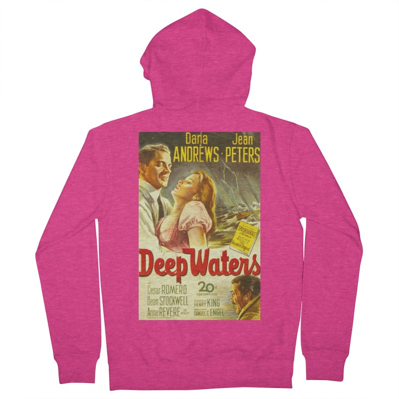 Deep Waters, vintage movie poster Women's Zip-Up Hoody by ALMA VISUAL's Artist Shop