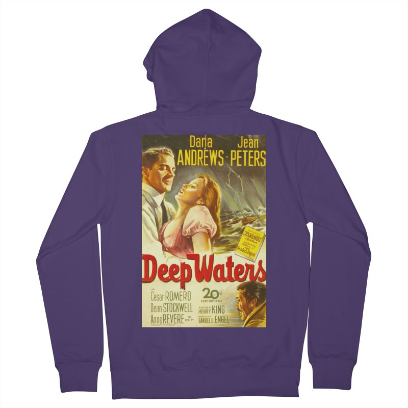Deep Waters, vintage movie poster Women's French Terry Zip-Up Hoody by ALMA VISUAL's Artist Shop