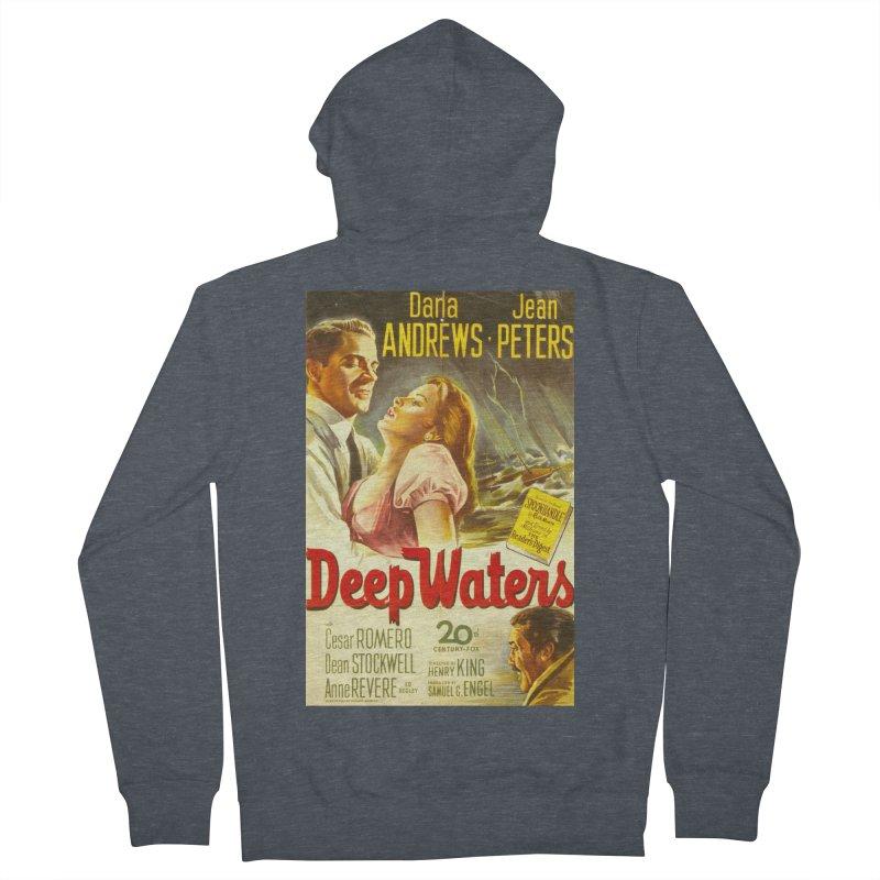 Deep Waters, vintage movie poster Men's Zip-Up Hoody by ALMA VISUAL's Artist Shop