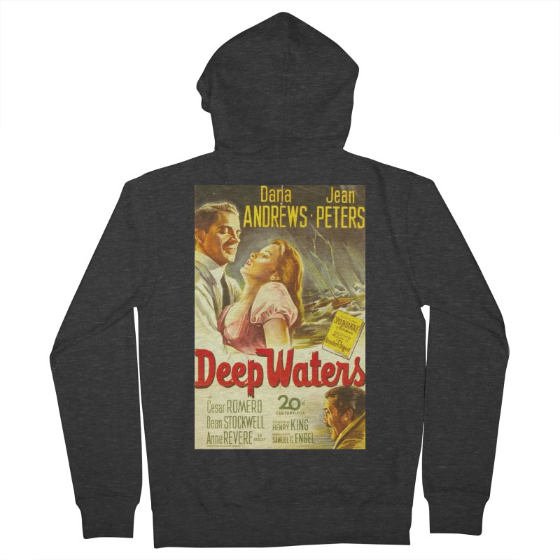 Deep Waters, vintage movie poster Men's Zip-Up Hoody by ALMA VISUAL's Artist Shop