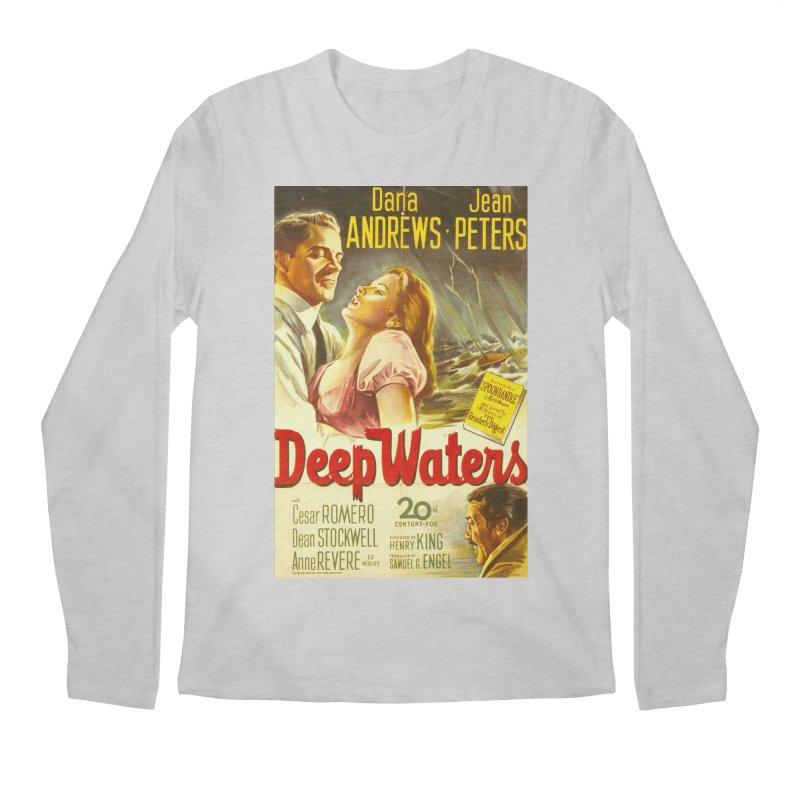 Deep Waters, vintage movie poster Men's Longsleeve T-Shirt by ALMA VISUAL's Artist Shop