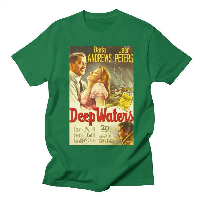 Deep Waters, vintage movie poster Women's Regular Unisex T-Shirt by ALMA VISUAL's Artist Shop