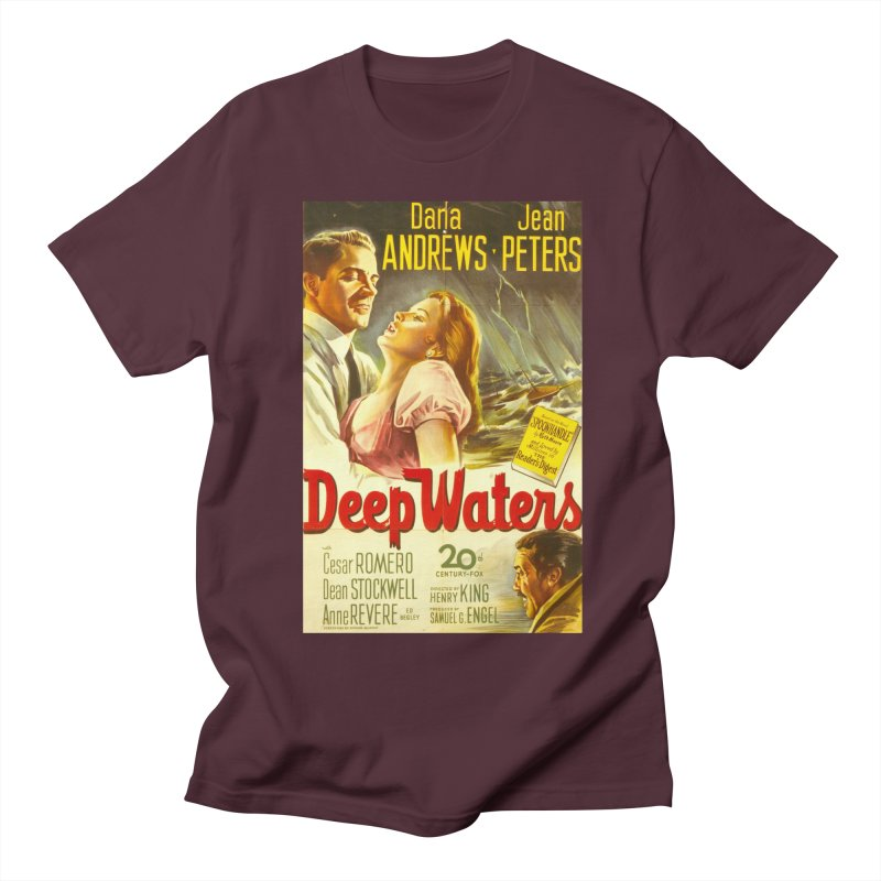 Deep Waters, vintage movie poster Women's Unisex T-Shirt by ALMA VISUAL's Artist Shop