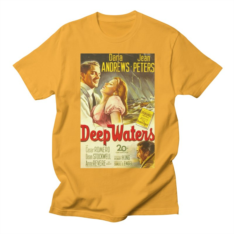 Deep Waters, vintage movie poster Men's T-Shirt by ALMA VISUAL's Artist Shop