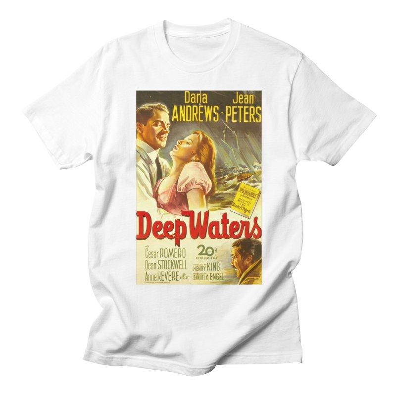 Deep Waters, vintage movie poster Men's Regular T-Shirt by ALMA VISUAL's Artist Shop