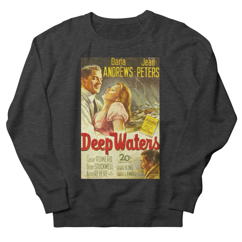 Deep Waters, vintage movie poster Women's French Terry Sweatshirt by ALMA VISUAL's Artist Shop