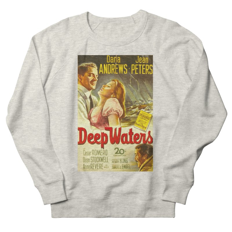 Deep Waters, vintage movie poster Men's Sweatshirt by ALMA VISUAL's Artist Shop