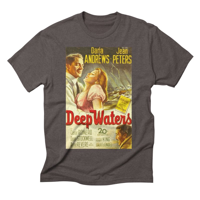 Deep Waters, vintage movie poster Men's Triblend T-Shirt by ALMA VISUAL's Artist Shop