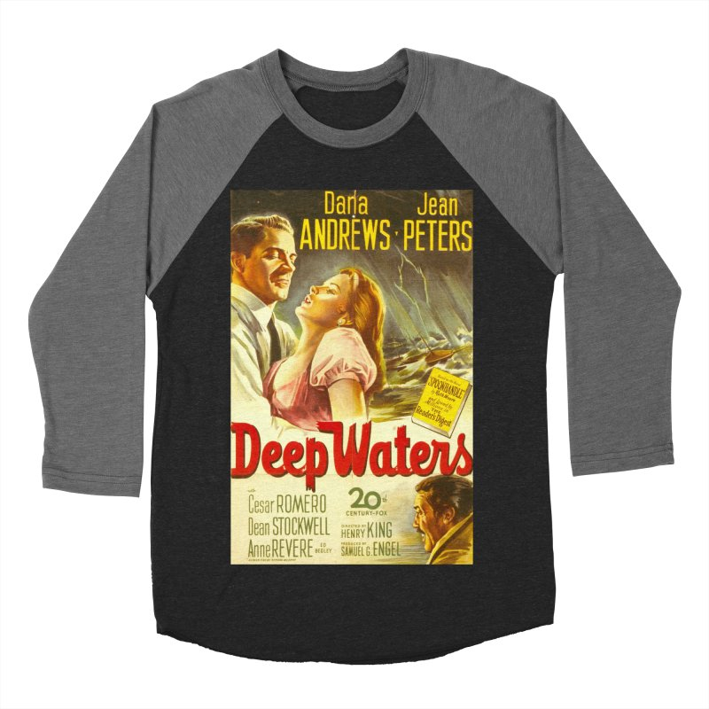 Deep Waters, vintage movie poster Men's Baseball Triblend T-Shirt by ALMA VISUAL's Artist Shop