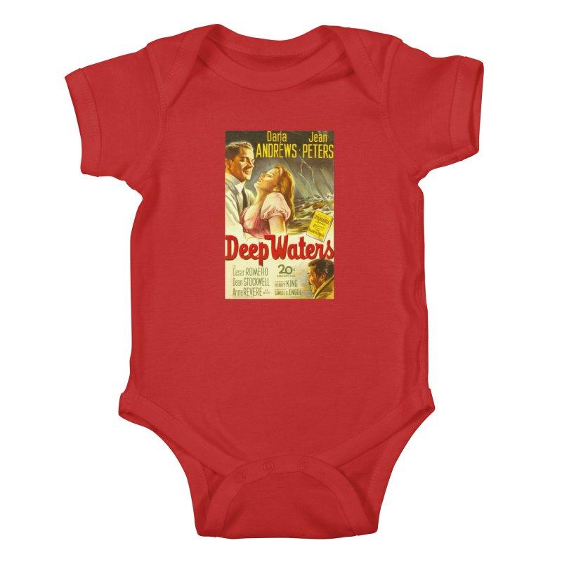 Deep Waters, vintage movie poster Kids Baby Bodysuit by ALMA VISUAL's Artist Shop