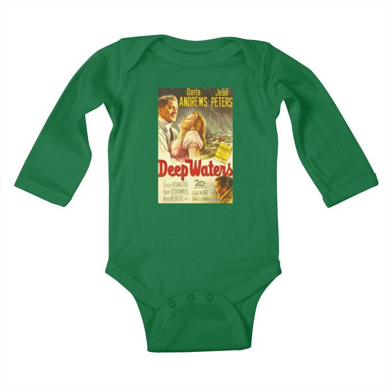 Deep Waters, vintage movie poster Kids Baby Longsleeve Bodysuit by ALMA VISUAL's Artist Shop