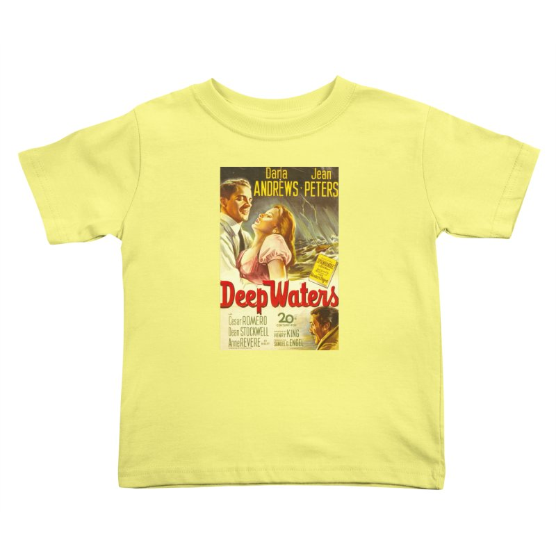 Deep Waters, vintage movie poster Kids Toddler T-Shirt by ALMA VISUAL's Artist Shop