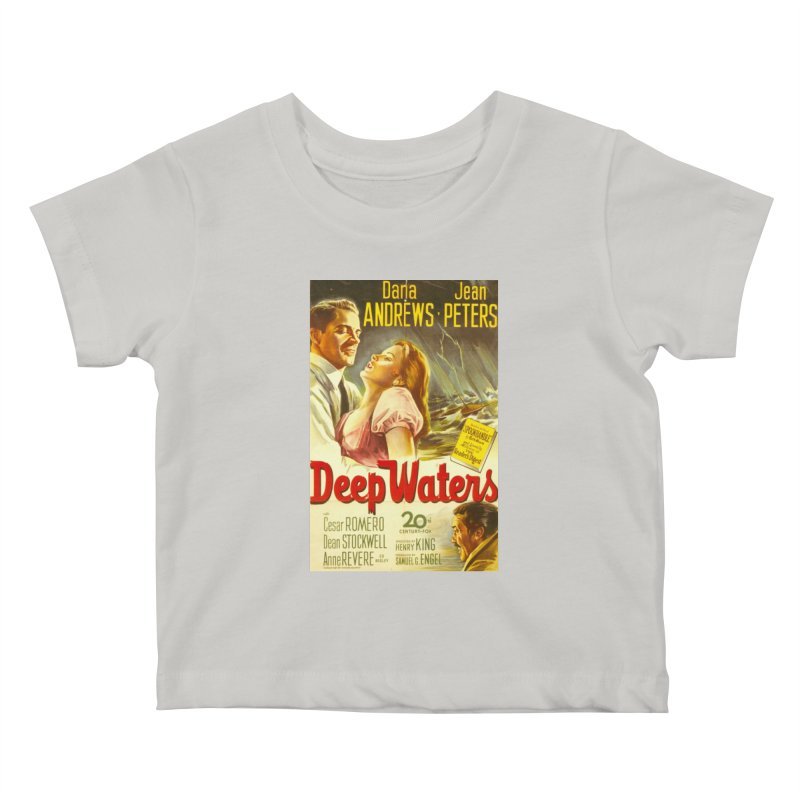 Deep Waters, vintage movie poster Kids Baby T-Shirt by ALMA VISUAL's Artist Shop