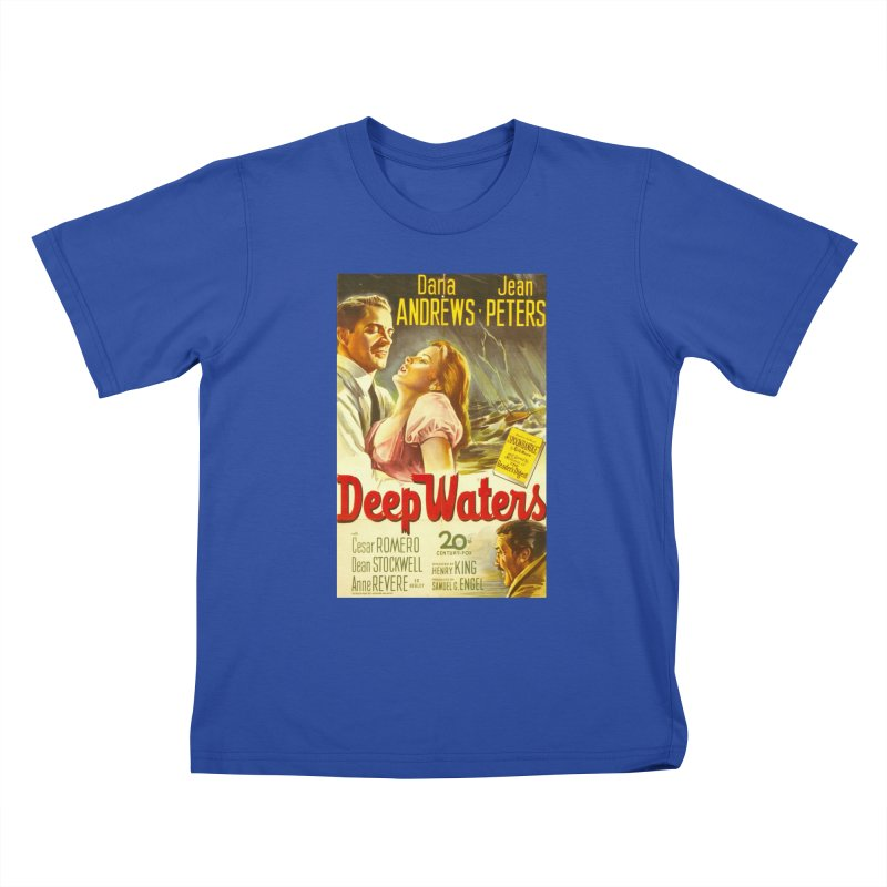 Deep Waters, vintage movie poster Kids T-Shirt by ALMA VISUAL's Artist Shop