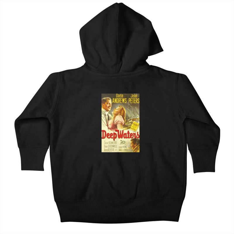 Deep Waters, vintage movie poster Kids Baby Zip-Up Hoody by ALMA VISUAL's Artist Shop