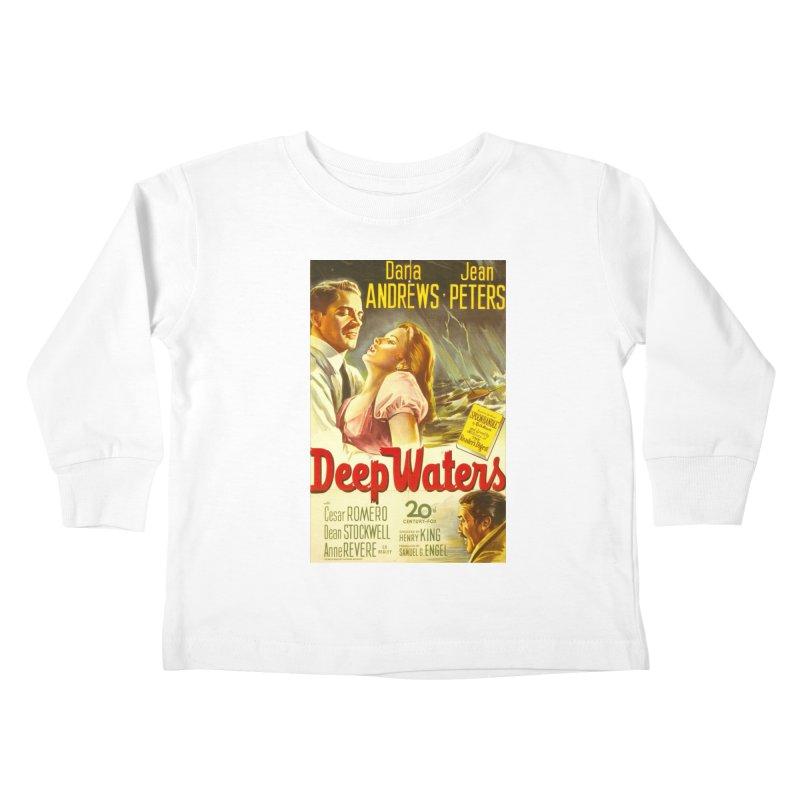 Deep Waters, vintage movie poster Kids Toddler Longsleeve T-Shirt by ALMA VISUAL's Artist Shop