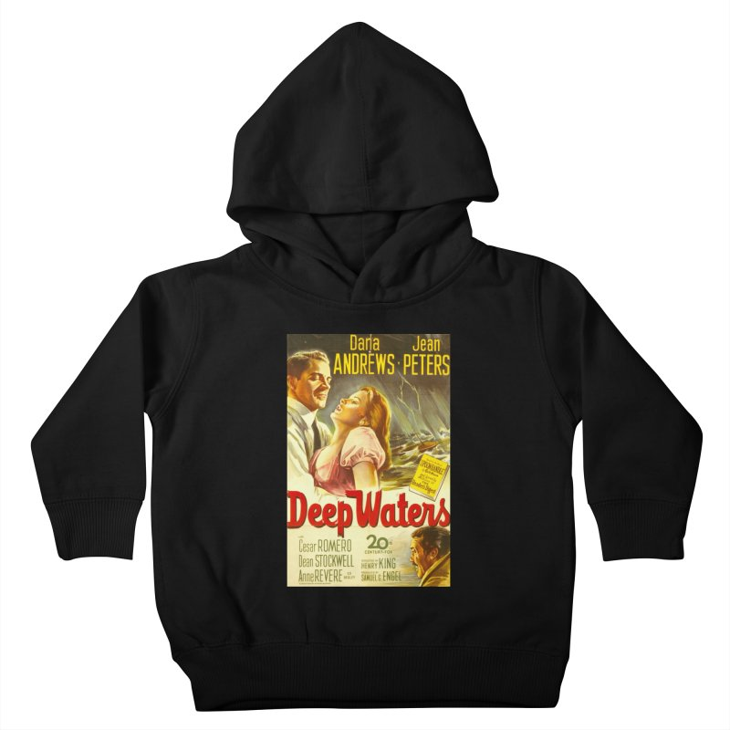 Deep Waters, vintage movie poster Kids Toddler Pullover Hoody by ALMA VISUAL's Artist Shop