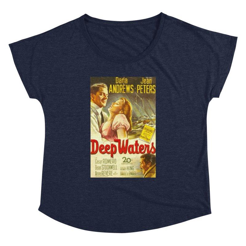 Deep Waters, vintage movie poster Women's Dolman by ALMA VISUAL's Artist Shop