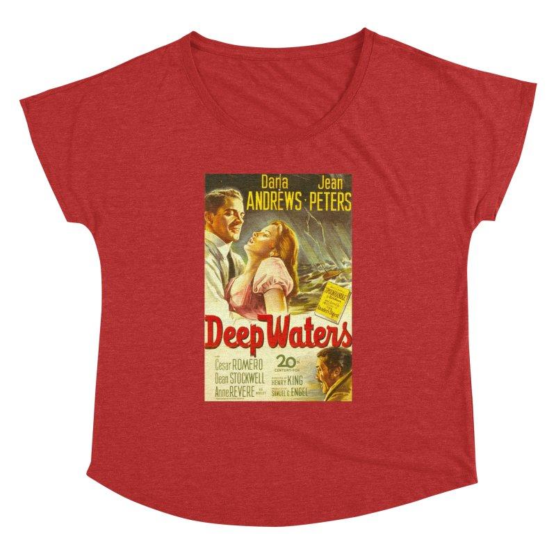 Deep Waters, vintage movie poster Women's Dolman Scoop Neck by ALMA VISUAL's Artist Shop