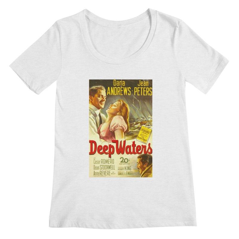 Deep Waters, vintage movie poster Women's Regular Scoop Neck by ALMA VISUAL's Artist Shop