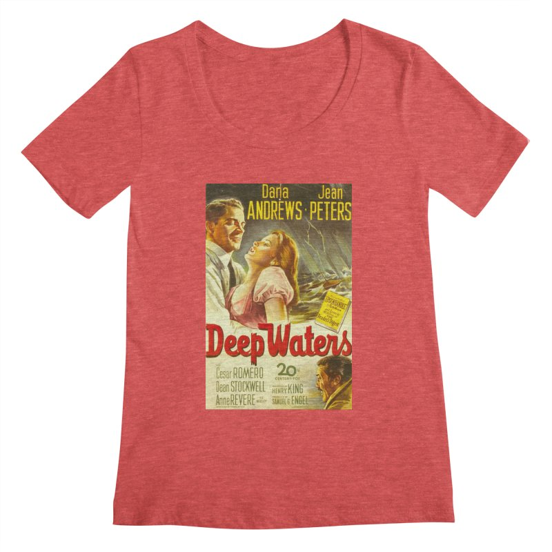 Deep Waters, vintage movie poster Women's Scoopneck by ALMA VISUAL's Artist Shop