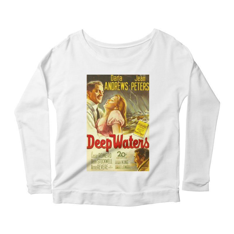 Deep Waters, vintage movie poster Women's Longsleeve Scoopneck  by ALMA VISUAL's Artist Shop
