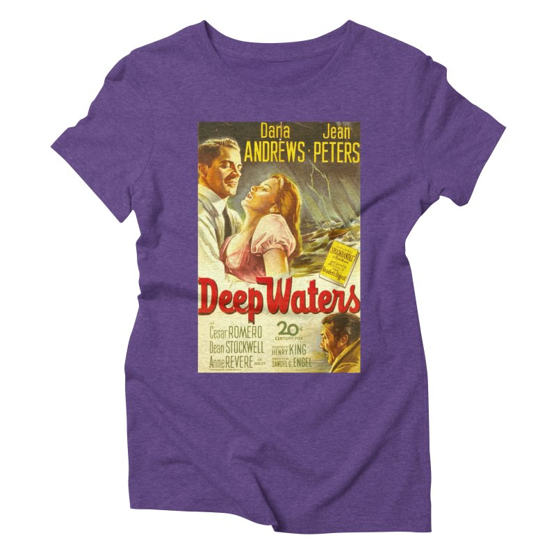 Deep Waters, vintage movie poster Women's Triblend T-Shirt by ALMA VISUAL's Artist Shop