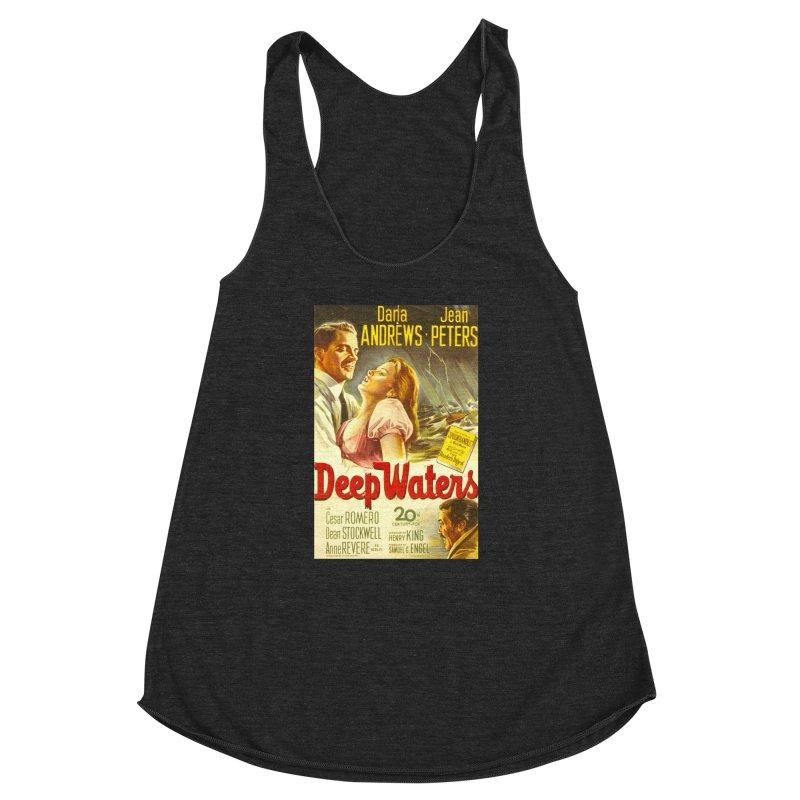 Deep Waters, vintage movie poster Women's Racerback Triblend Tank by ALMA VISUAL's Artist Shop