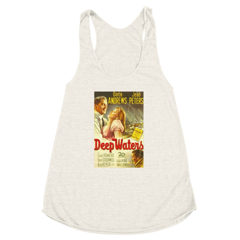 Deep Waters, vintage movie poster Women's Racerback Triblend Tank by ALMA VISUAL's Artist Shop