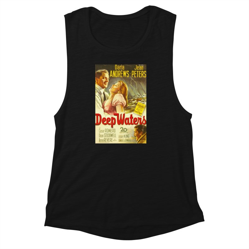 Deep Waters, vintage movie poster Women's Muscle Tank by ALMA VISUAL's Artist Shop
