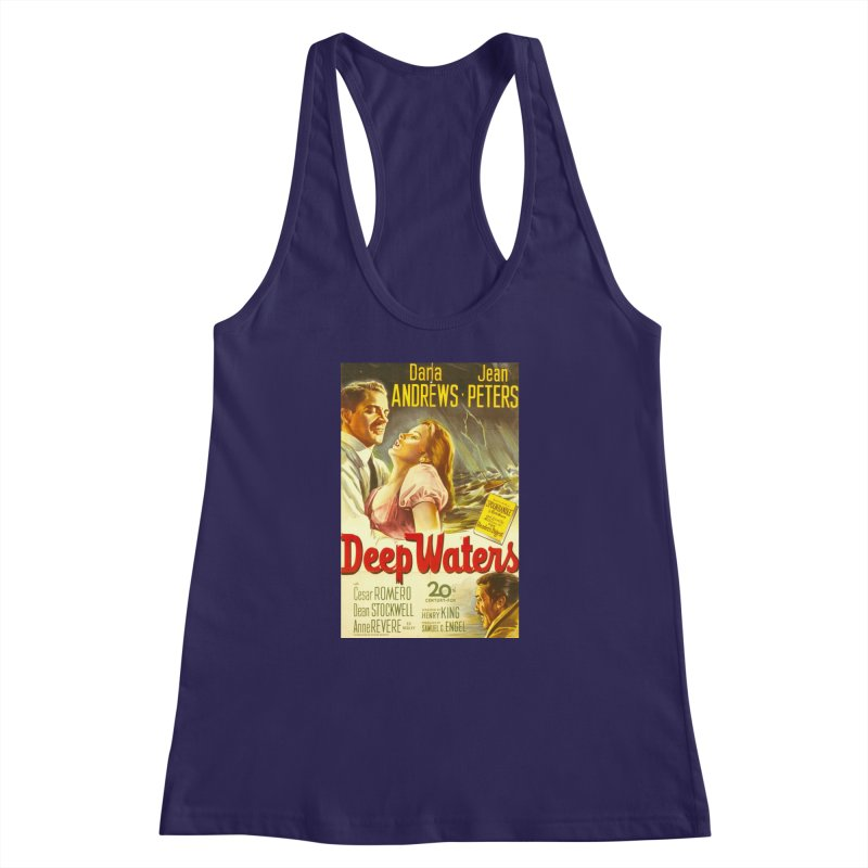 Deep Waters, vintage movie poster Women's Racerback Tank by ALMA VISUAL's Artist Shop
