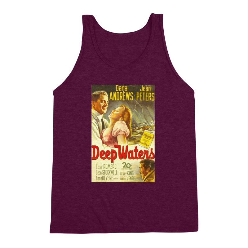 Deep Waters, vintage movie poster Men's Triblend Tank by ALMA VISUAL's Artist Shop
