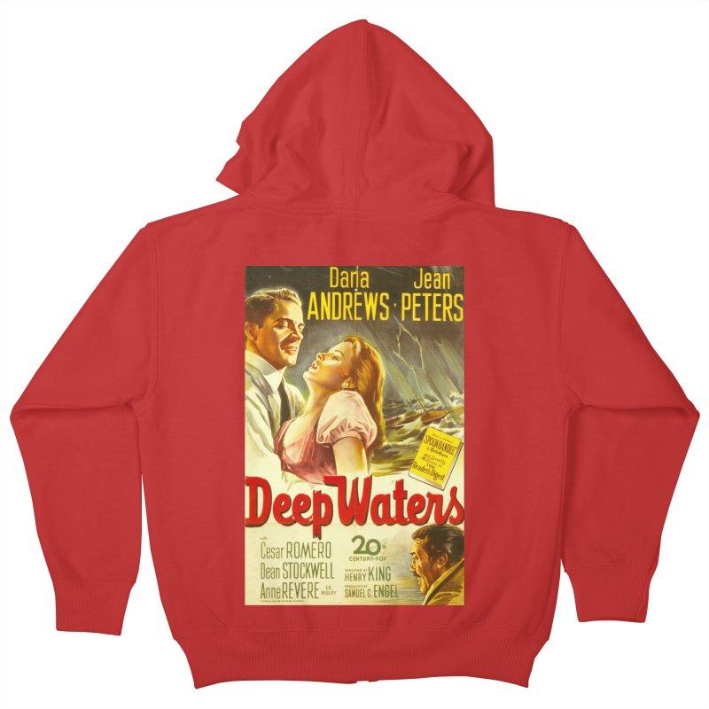 Deep Waters, vintage movie poster Kids Zip-Up Hoody by ALMA VISUAL's Artist Shop