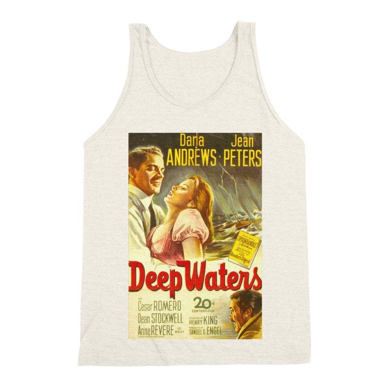Deep Waters, vintage movie poster Men's Triblend Tank by ALMA VISUAL's Artist Shop