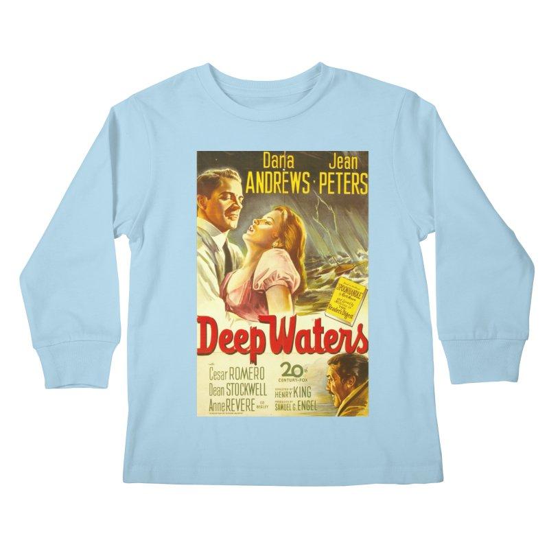 Deep Waters, vintage movie poster Kids Longsleeve T-Shirt by ALMA VISUAL's Artist Shop
