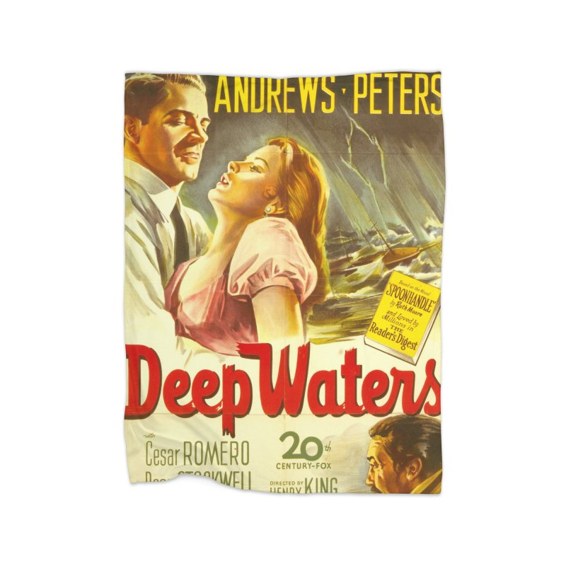 Deep Waters, vintage movie poster Home Blanket by ALMA VISUAL's Artist Shop